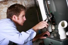 Jim is one of our Fairfield water heater repair experts currently working on a unit