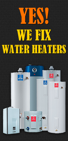 yes, our team of professional plumbers can fix any type of water heaters